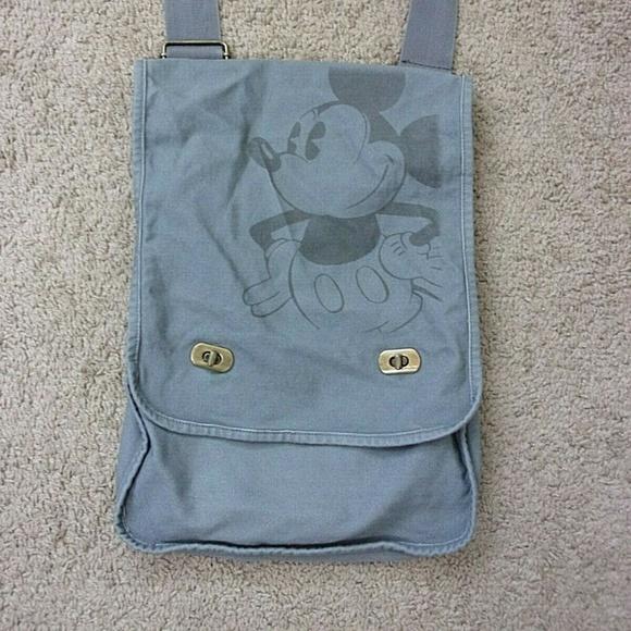 Disney Handbags - Mickey Mouse Messenger Bag Gray Shoulder Crossbody